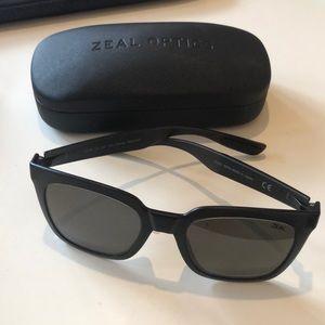 Zeal Optics Black Polarized Unisex Sunglasses